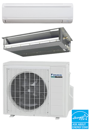 Daikin Ductless LV Series Slim-Duct and Wall-Mount
